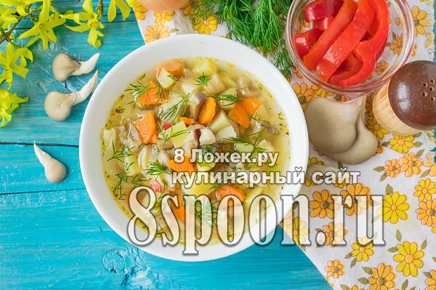 Грибной суп из вешенок фото_05