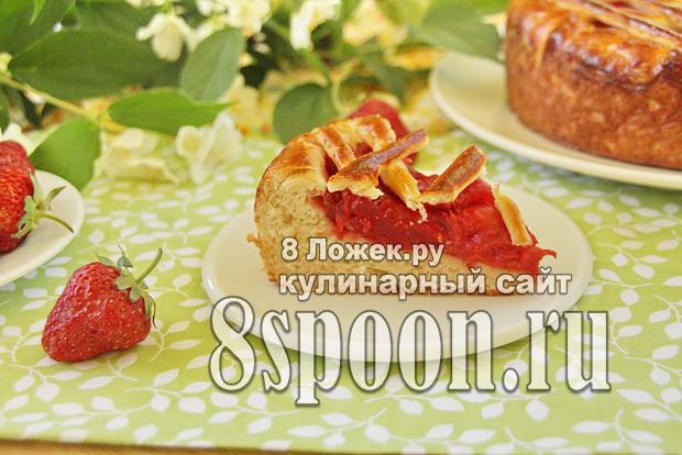 Пирог из дрожжевого теста с клубникой фото_14