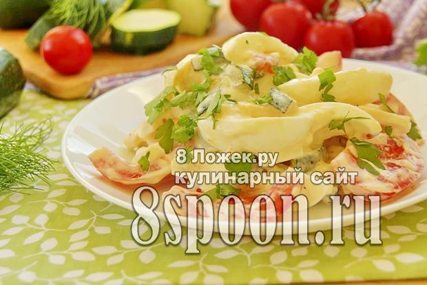 Салат из жареных кабачков фото_03