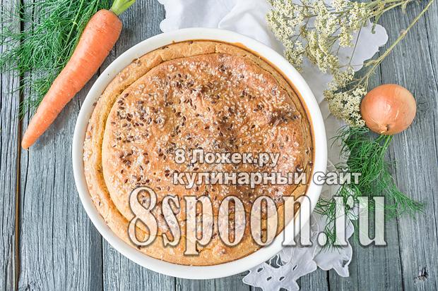 Заливной пирог с капустой на кефире фото_08
