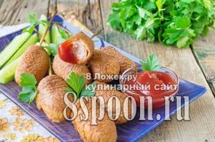 Сосиски в кляре на сковороде фото_4