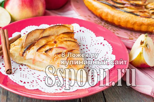 Пирог из слоеного теста с яблоками фото, фото рецепт пирога из слоеного теста с яблоками