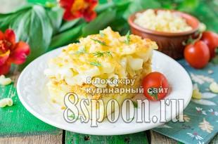 Макаронная запеканка с фаршем в духовке фото рецепт